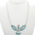 Navajo Turquoise Sterling Silver Eagle Pendant 31624