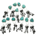 Turquoise Magnesite Nugget Key Ring 31700
