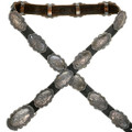 Old Native American Silver Concho Belt 31720