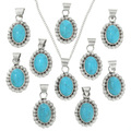 Turquoise Western Pendant with Chain 31752