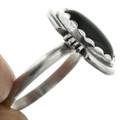 Black Onyx in Sterling Silver Navajo Ring 31763