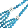 Three Strand Waterfall Navajo Turquoise Beaded Necklace 31766