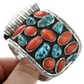 Navajo Made Sterling Silver Watch Bracelet 31795