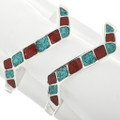 Turquoise Chip Inlay Sterling Bracelet 31799