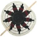 Star Flower Yarn Ponytail Holder Wooden Stick Barrette 31814
