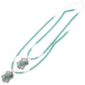 Turquoise Silver Western Pendant Necklace 31822