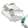 Turquoise Silver Navajo Necklace 31825