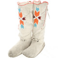 Vintage Plains Indian Beaded Tall Moccasins 31839