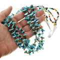 Three Strand Turquoise Nugget Bead Necklace 31863