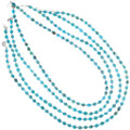 Turquoise and Sterling Silver Native American Necklace 31888