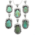 Green Turquoise Sterling Southwest Pendant 32020
