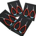 Native American Beaded Hoop Earrings 32028