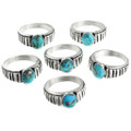 Genuine Turquoise Native American Rings 32030