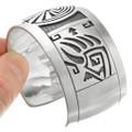 Navajo Symbols Sterling Silver Bracelet 32064