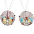 Zuni Made Shell and Turquoise Pendants 32084