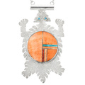 Spiny Oyster Turquoise Horned Lizard Pendant 32092