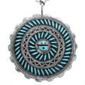Sleeping Beauty Turquoise Zuni Pendant 32094