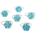 Native American Turquoise Silver Rings 32099