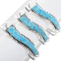 Turquoise Inlay Zuni Bracelet 32173