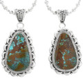 Large Number 8 Turquoise Western Pendant 32175