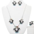 Zuni Thunderbird Necklace Set 32180