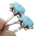 Zuni Inlay Flower Turquoise Ring 32196