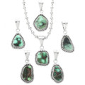 Royston Turquoise in Sterling Silver Pendant 32200