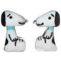 Zuni Inlay Turquoise Snoopy Earrings 32202
