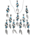 Blue Turquoise Nugget Western Jewelry 32203