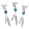 Turquoise Eagle Feather Pendants 32210