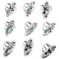 Native American Inlay Blue Jay Ring 32243