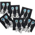 Silver Feather Post Dangle Earrings 32249