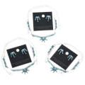 Zuni Tribe Necklace Earrings Set 32255