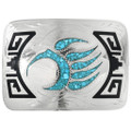 Turquoise Bear Claw Belt Buckle 32335