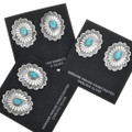 Sterling Silver Turquoise Native American Earrings 32365