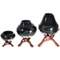 Wooden Pottery Display Stands Three Sizes 32386