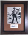 Vintage Framed Dennis Weaver Autograph 32397