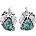 Genuine Bisbee Turquoise Squash Blossom Necklace Earrings Set 32408