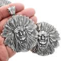 Chief Headdress Sterling Sterling Silver Pendant 32428