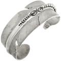 Sterling Silver Navajo Feather Bracelet 32464