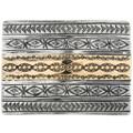 Vintage 14K Gold Silver Belt Buckle 32495