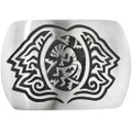 Vintage Hopi Overlaid Silver Belt Buckle 32512