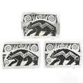 Navajo Sterling Heartline Bear Belt Buckle 32520