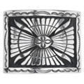 Navajo Sterling Silver Belt Buckle 32576