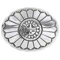 Vintage Overlaid Silver Sunface Belt Buckle 32597