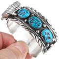 Kingman Turquoise Sterling Silver Watch Cuff 32604