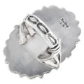Navajo Made Sterling Silver Ring Artist Signed 32607