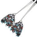 Matching Turquoise Coral Inlay Bolo Tips 32642