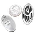 Sterling Silver Bear Paw Earrings 32670