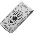 Navajo Bear Claw Silver Money Clip 32814
